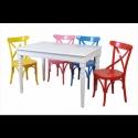 Renkli Sandalyeli Masa Takımı
