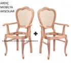 Klasik Hasırlı Kollu Lükens Ayak Sandalye