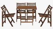 Ahşap Kırmalı Masa Sandalye
