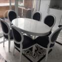 Oval Mutfak Masası Takımı