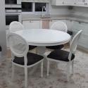 Beyaz Yuvarlak Masa Takımı Adana